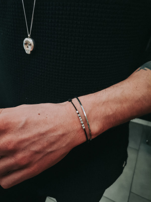 Bracelets colayco Hommes cordon pépites et rigide martelé
