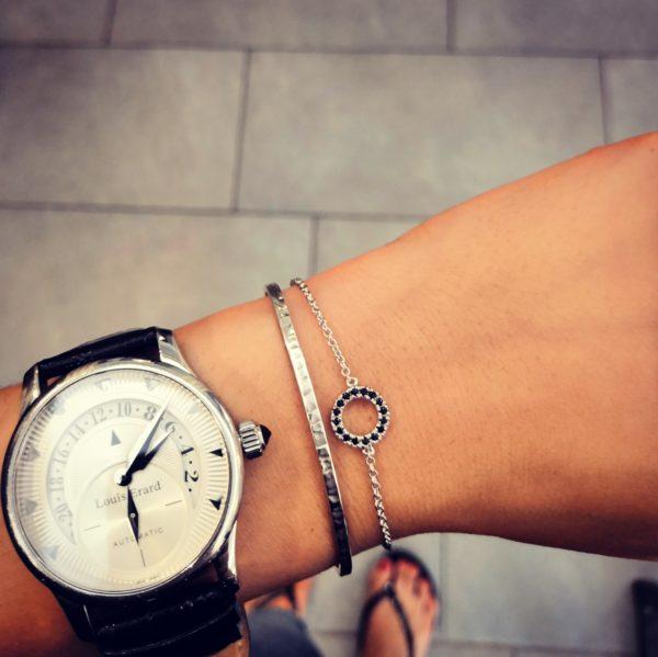 Bracelet spinel et rigide