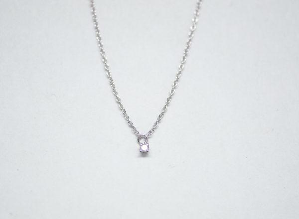 Collier avec un diamant