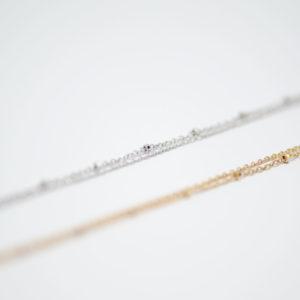 Bracelet double perle argent